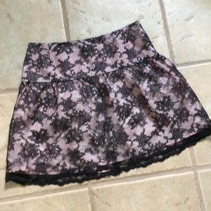 Shoshanna lace skirt pink Black